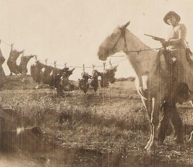 turkey hunting horse in 1910