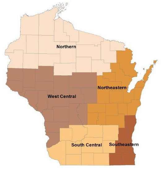 Wisconsin wild turkey hunting regions - more