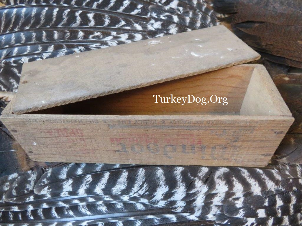 antique cheese box wild turkey call Alabama vintage