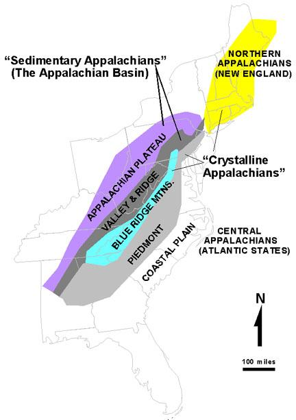 Appalachian zone map