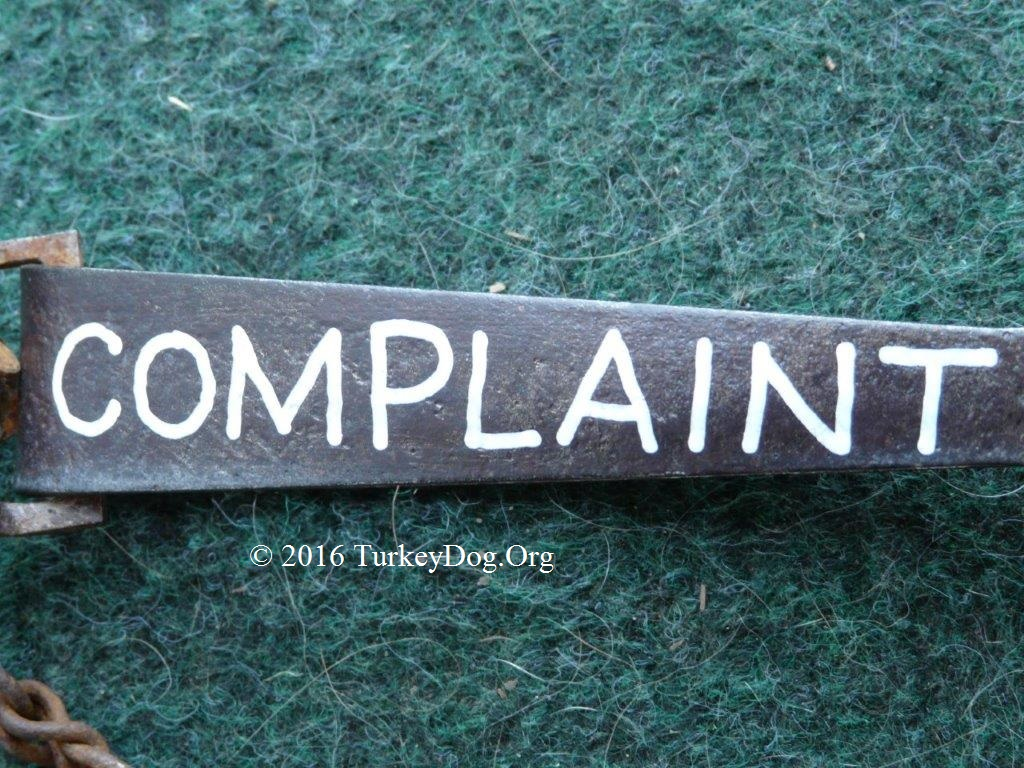 Got a complaint? Press here!