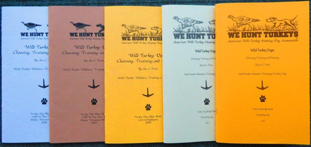 5 collector editions of the Turkey Dog Book