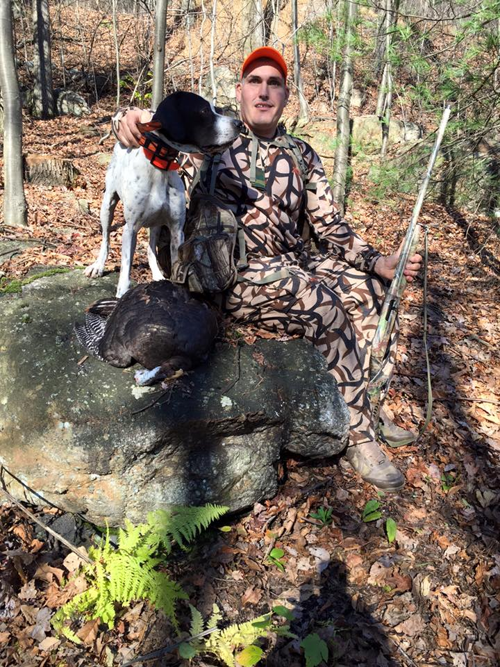 Job Seger and Gunner - famous PA turkey dog team