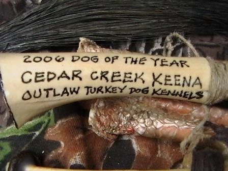 turkey call 2006 dog of the year