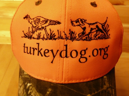 Orange deer hunting cap