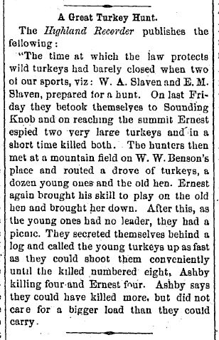 It's easier to kill turkeys without dogs than with dogs
