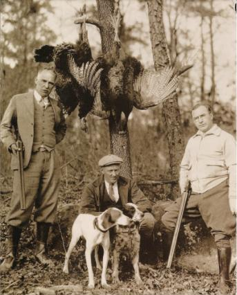 antique old time traditional Appalachian wild turkey dog hunt